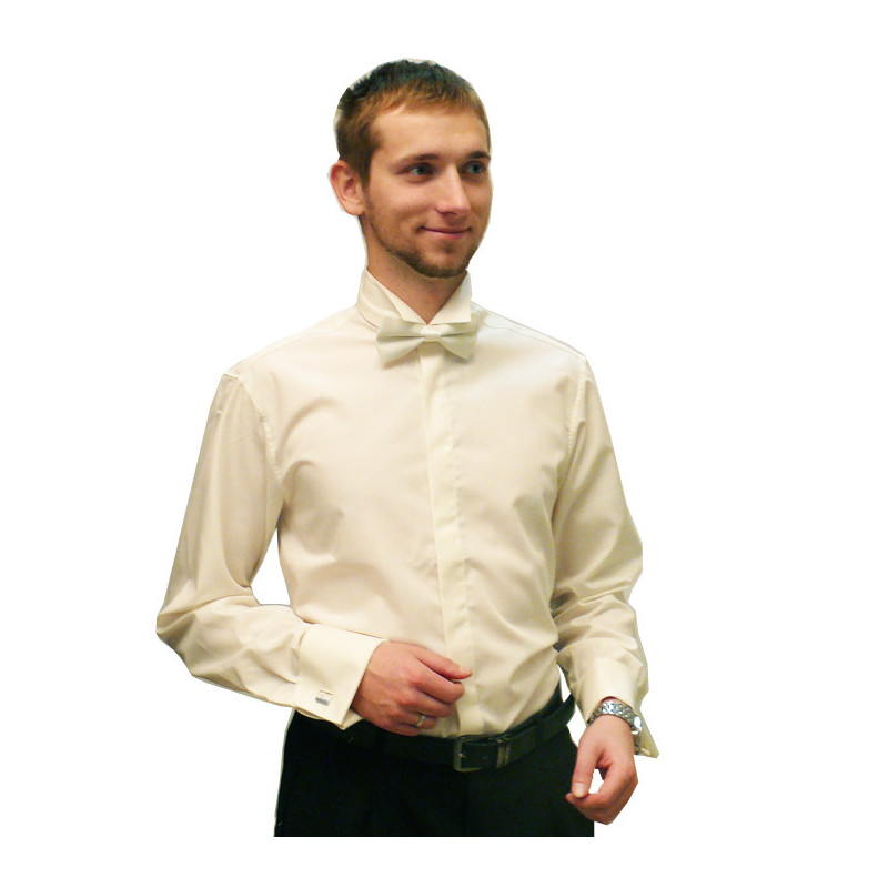 Frakovka pánská košile 100 % bavlna non iron šampaň Assante 30208 1bd46a9832