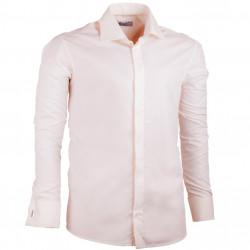 Šampaň pánská košile na manžetový knoflíček rovná Assante 30216