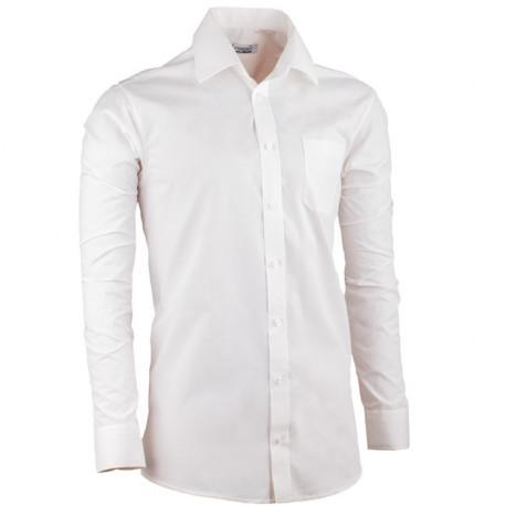 Smetanová pánská košile slim fit s dlouhým rukávem Aramgad 30280
