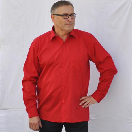 Prodloužená pánská košile červená Friends and Rebels 20303