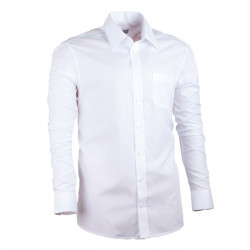 Prodloužená pánská košile regular bílá Assante 20004
