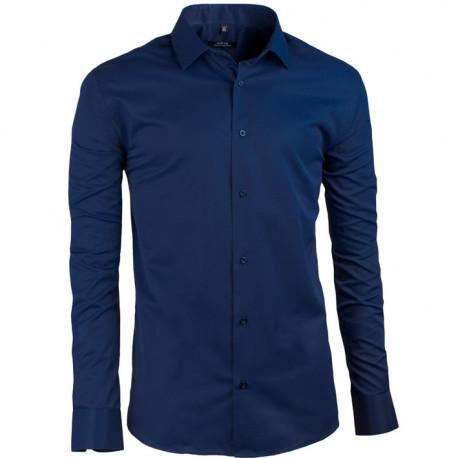 Prodloužená pánská košile modrá Assante 20607