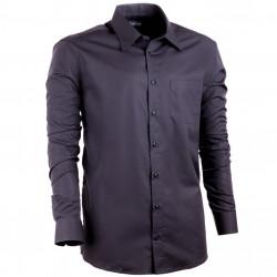Nadměrná pánská košile 100% bavlna rovná černá Assante 31025