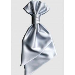 Francouzská kravata šedá svatební Rene Chagal 90997