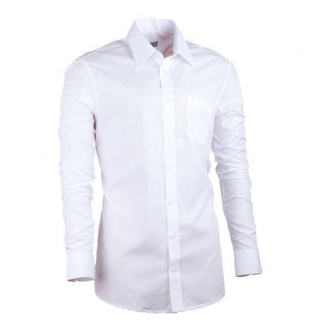 Prodloužená pánská košile slim bílá Assante 20005