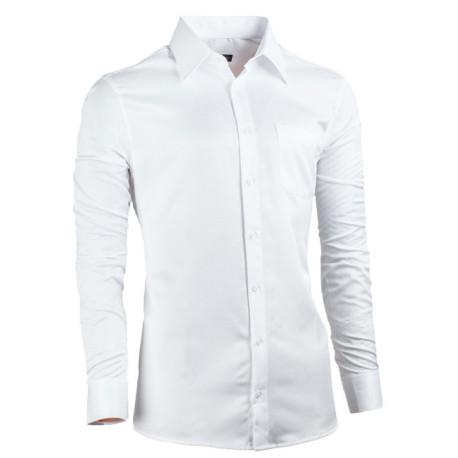 Bílá pánská košile vypasovaná Assante 30017