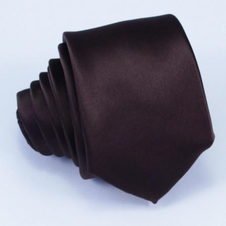 Úzká hnědá kravata Arturo Gottini 99123