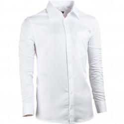 Bílá pánská košile s dlouhým rukávem rovná Assante 30024