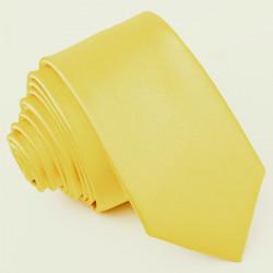 Žlutá kravata jednobarevná Greg 99981