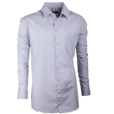 Prodloužená pánská košile regular světle šedá Assante 20104