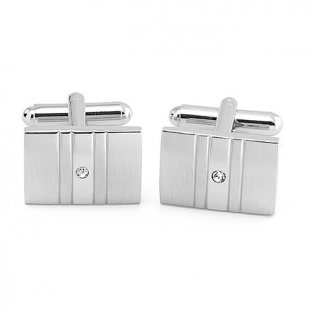 Manžetové knoflíčky z bílého kovu Assante 90563