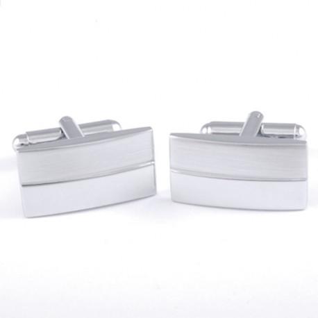 Manžetové knoflíčky stříbrné barvy Assante 90565