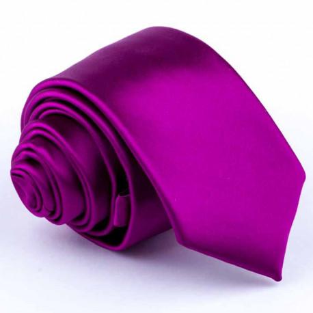 Cyklámová slim kravata Rene Chagal 99164