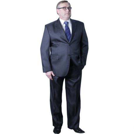 Pánský šedý oblek zkrácený na výšku 170 - 176 cm Galant 160600