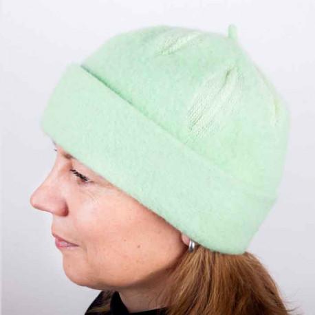 Zelená dámská módní čepice z čisté vlny Tonak 87300