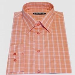 Prodloužená pánská košile oranžová Assante 20612