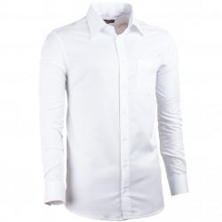 Prodloužená pánská košile regular fit bílá Assante 20015