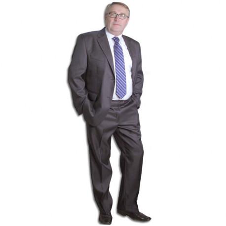 Šedý pánský oblek společenský na výšku 176 - 182 cm Galant 160621