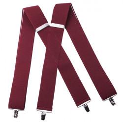 Vínově červené kšandy super široké Assante 90117