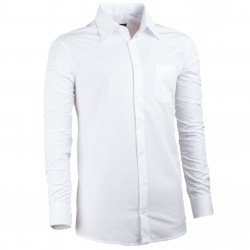 Prodloužená pánská košile regular fit bílá Assante 20018