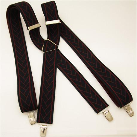 Černočervené kšandy Assante 90137