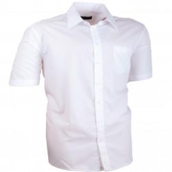 Bílá pánská košile rovná 100 % bavlna non iron Assante 40007