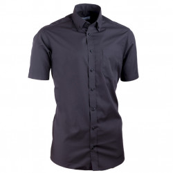 Košile s knoflíčky v límečku vypasovaná černá Aramgad 40135