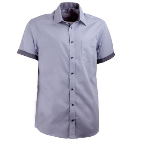 Šedá košile rovná kombinovaná Aramgad 40140