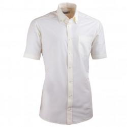 Šampaň pánská košile slim fit s krátkým rukávem Aramgad 40235