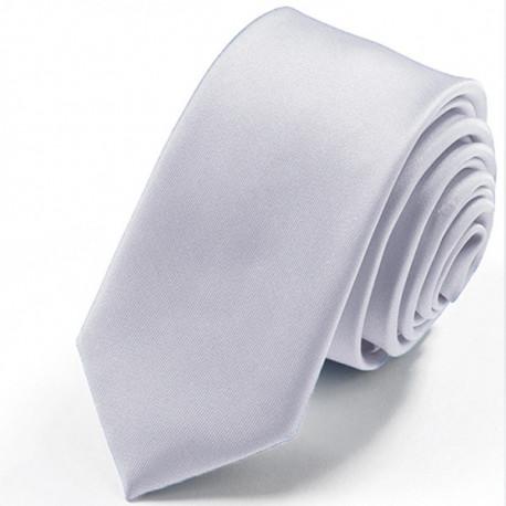 Stříbrná slim fit kravata Greg 99118