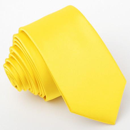Žlutá kravata slim Greg 99174
