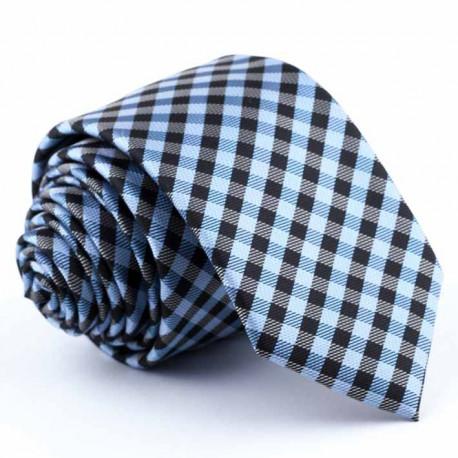 Modrá kravata slim Greg 94261