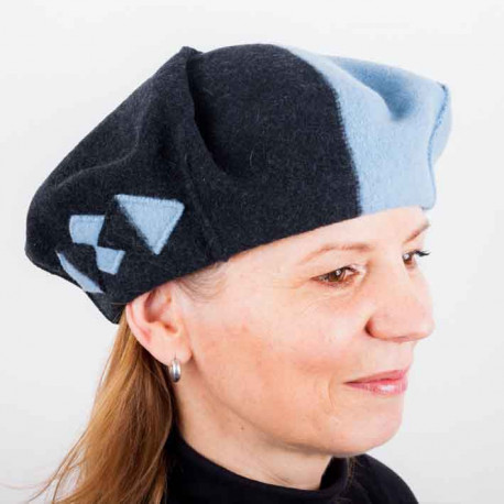 Modrý dámský elegantní baret Tonak 87227