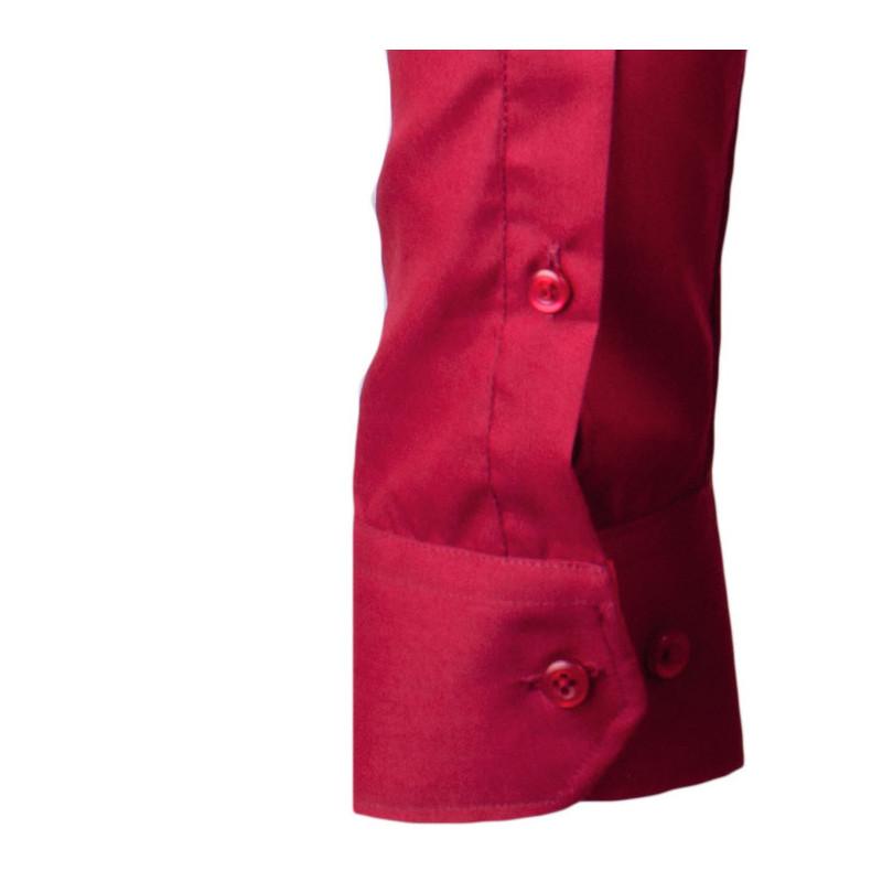 e3d788de39d Prodloužená pánská košile slim fit bordó Aramgad 20307