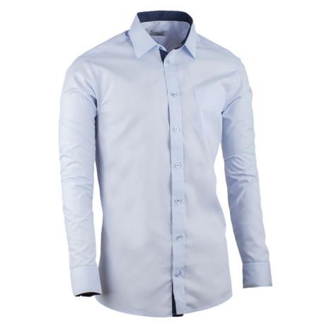 Prodloužená pánská košile slim fit modrá Aramgad 20506
