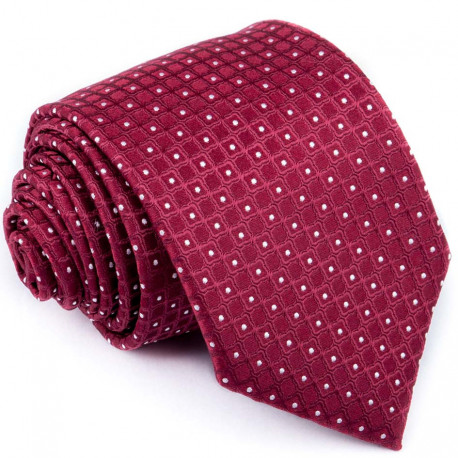Bordó kravata bílé puntíky Greg 93206