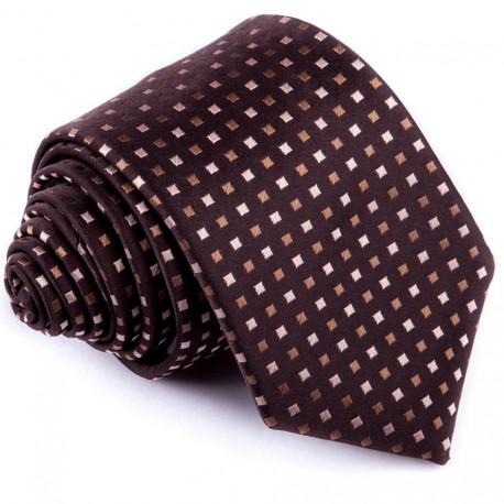 Hnědá luxusní kravata Greg 92888