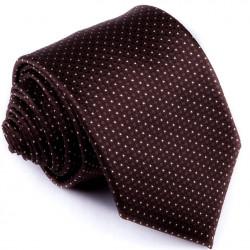 Hnědá puntíkovaná kravata Greg 92889