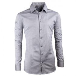 Šedá elegantní košile vypasovaná slim fit Aramgad 30140