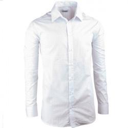 Bílá elegantní košile vypasovaná slim fit Aramgad 30047