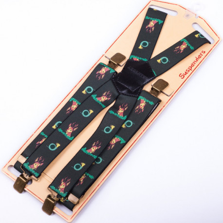 Luxusní myslivecké kšandy srnec zelené Assante 90151