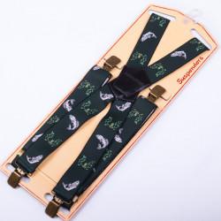 Luxusní rybářské kšandy zelené ryba Assante 90154