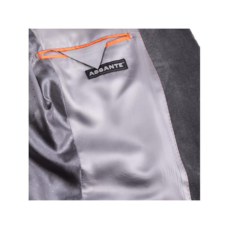 Šedé pánské sako na výšku 176 - 182 cm Assante 60004 829709c86e