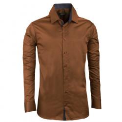 Bronzová pánská košile slim 100% bavlna non iron Assante 30285