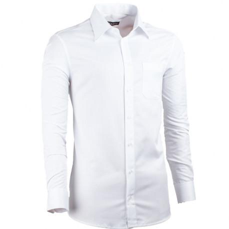 Bílá pánská košile slim fit XS Assante 30048