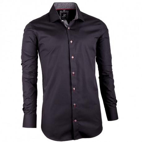 41eb8f078928 Černá pánská košile slim fit 100 % bavlna Brighton 109949