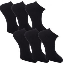 Multipack ponožky 6 párů černé antibakteriální kotníkové Ag Assante 783