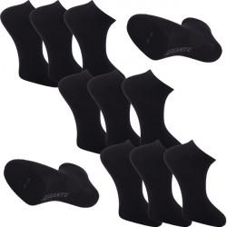 Multipack ponožky 9 párů černé antibakteriální kotníkové Ag Assante 785