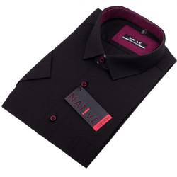 Černá pánská košile krátký rukáv regular Native 120300