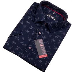 Modrá pánská košile s krátkým rukávem Native 120307